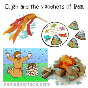 Elijah and the Prophets of Baal Bible Lesson with Crafts and Activities from www.daniellesplace.com