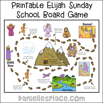 Elijah Board Game for Sunday School and Children's Ministry from www.daniellesplace.com