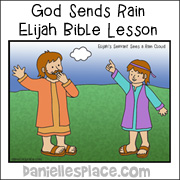 God Sends Rain Elijah Bible Coloring Sheet