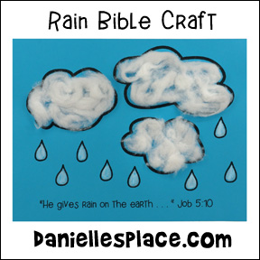 rain bible craft