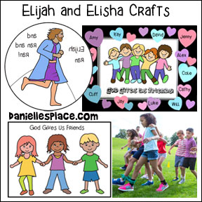 Elijah and Elisha Bible Crafts for Children's Ministry from www.daniellesplace.com