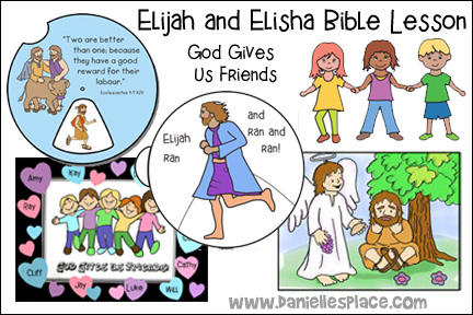 Elijah And Elisha Bible Lesson The Following Crafts Activities