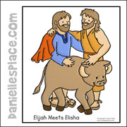 Elijah and Elisha Coloring Sheet