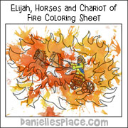 Elijah, Horses and Chariot of Fire Bible Craft for Sunday School from www.daniellesplace.com