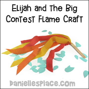 Flame Banner Craft for Elijah and the Prophets of Baal Bible Lesson from www.daniellesplace.com