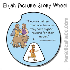 Elijah Picture Story Wheel From Daniellesplace For And Elisha Bible Lesson