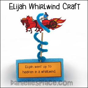 Elijah in a Whirlwind Bible Craft for Kids from www.daniellesplace.com