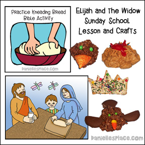 Elijah and the Widow Bible Lesson and Crafts