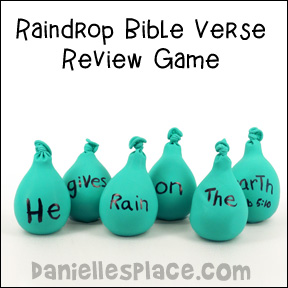 Balloon Raindrop Bible Verse Review Games from www.daniellesplace.com