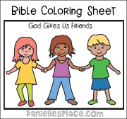 Friends Coloring Sheet