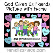 God Gives Us Friends Picture Frame Craft