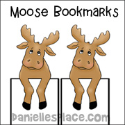 Moose Bookmark Craft from Daniellesplace.com