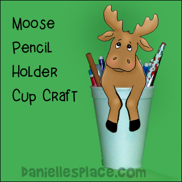 Moose Pencil Holder Craft for Kids