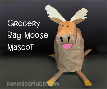 Moose Mascot Grocery Bag Craft