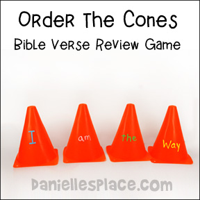 Order the Cones Bible verse review game from www.daniellesplace.com
