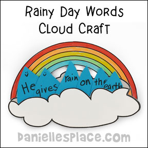 Rainy Day Words Cloud Craft and Learning Activity from www.daniellesplace.com