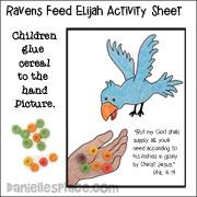 Ravens Feed Ellijah Activity Sheet from www.daniellesplace.com