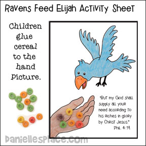 ravens feed elijah activity sheet