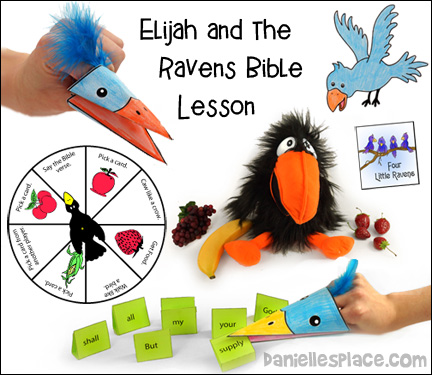 Elijah Bible Lesson - Elijah and the Ravens Sunday School Lesson from www.daniellesplace.com