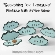 Searching for Treasure Printable Math Game