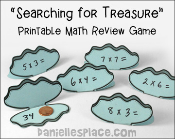 """Searching for Treasure"" Math Game"