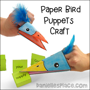 paper bird puppets craft