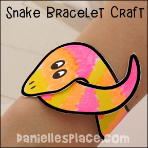 Snake Bracelet Craft from www.daniellesplace.com