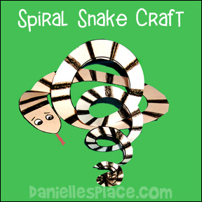 Spiral Snake Craft for Kids from www.daniellesplace.com