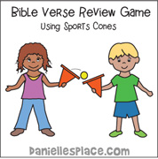 Bible Verse Review Game Using Sports Cones