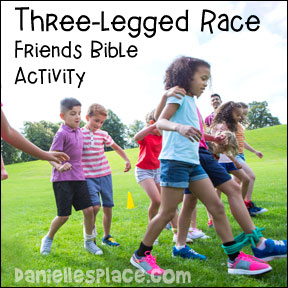 Three-legged Race Friends Bible Activity from www.daniellesplace.com