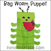 Tomato Worm Puppet Bible Craft
