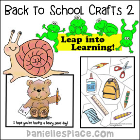 Back to School Crafts Page 3 - Crafts to help your child get ready for school