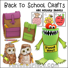 Back to School Crafts - Great crafts to  help your child get ready for school