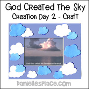 Cloud Frame Craft for Day 2 of Creation Story