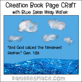 Creation Story Book Craft using Saran Wrap for Water