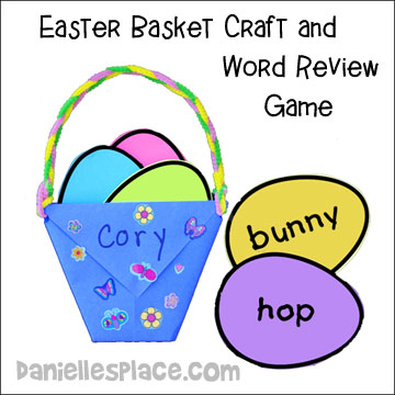 Easter Basket Craft and Word Review Activity for Children