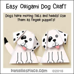 Easy Origami Dog Paper Craft for Kids from www.daniellesplace.com