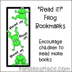 """Read it!"" Bookmarks - Use these bookmarks to encourage your children to read more books about frogs."