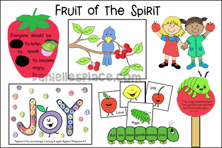 Fruit of the Spirit Bible Crafts and Children's Sermons for Children's Ministry
