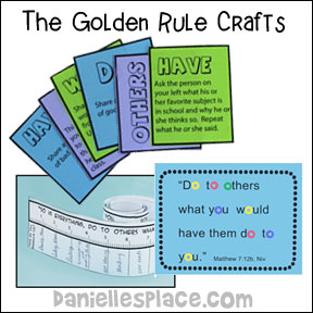 The Golden Rule Bible Crafts and Bible Review Games