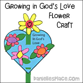 "Growing in God's Love"" Growing Flower Craft for Children's Ministry"