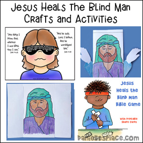 Jesus Heals the Blind Man Crafts and Learning Activities