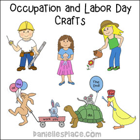 Labor Day and Occupation Crafts for Kids