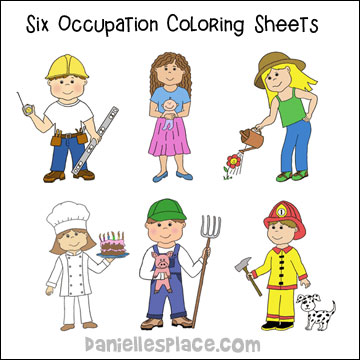 Occupation Coloring Sheets Labor Day Activity