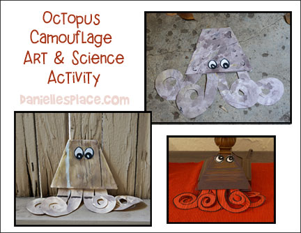 Octopus Camouflage Art and Science Activity for Children from www.daniellesplace.com