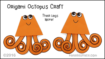 Origami Octopus With Moving Legs Craft