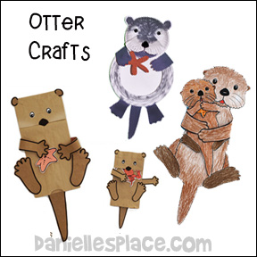 Otter Crafts for Kids from www.daniellesplace.com