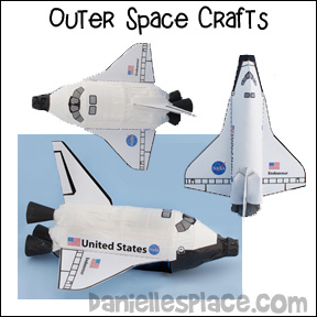 Outer Space Crafts for Kids - Make the Endeavour Space Shuttle