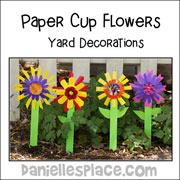 Paper Plate Flowers Yard Decorations