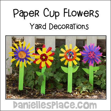Paper Cup Yard Deocoration Craft